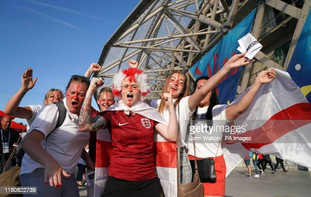 England fans before the FIFA Women's World Cup Group D match between Japan and England at the Stade de Nice