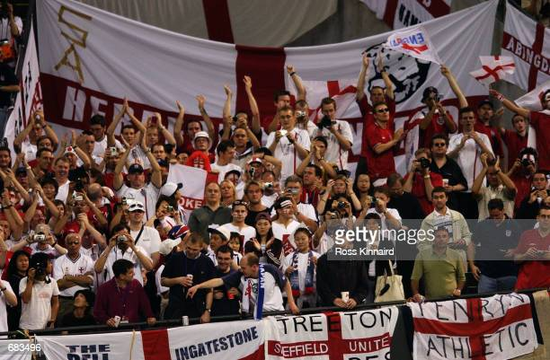 England fans before the Group F match against Argentina of the World Cup Group Stage played at the Sapporo Dome Sapporo Japan on June 7 2002 England...
