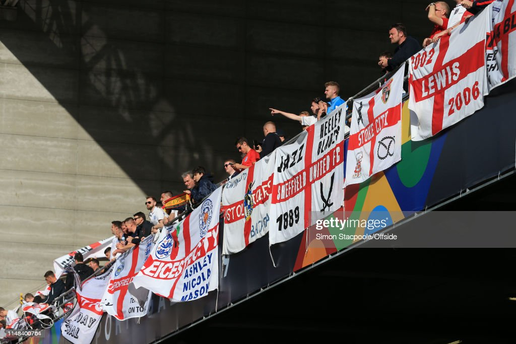 England Fans Behind Flags During The Uefa Nations League Semi Final News Photo Getty Images