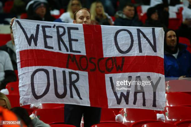 England Fans during International Friendly match between England and Germany at Wembley stadium London on 10 Nov 2017 during International Friendly...