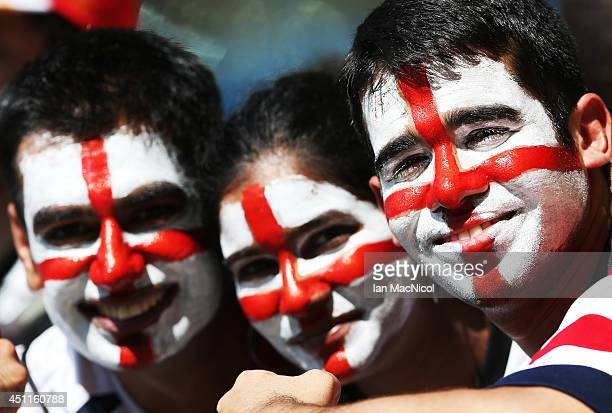 England fans during the 2014 FIFA World Cup Brazil Group D match between Costa Rica and England at Estadio Mineirao on June 24 2014 in Belo Horizonte...