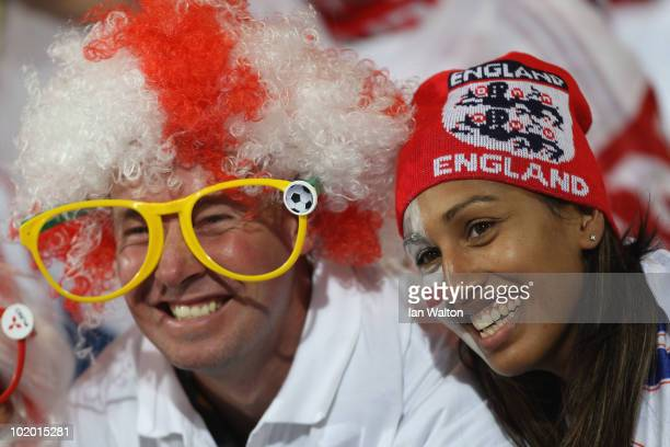 England fans enjoy the atmosphere ahead of the 2010 FIFA World Cup South Africa Group C match between England and USA at the Royal Bafokeng Stadium...