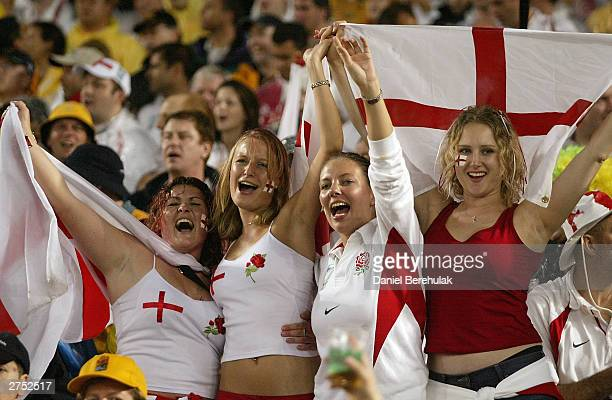 England fans enjoy the atmosphere