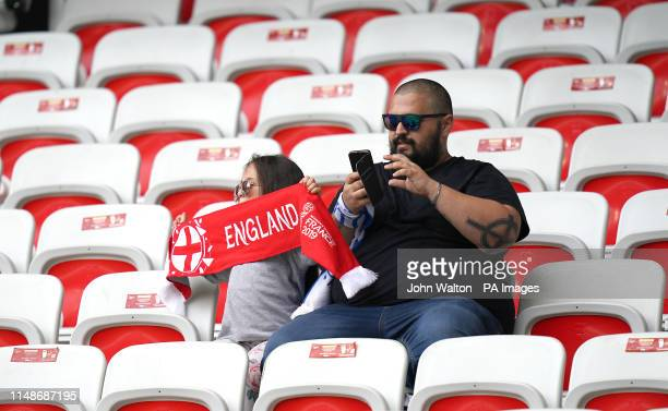 England fans in the stands during the FIFA Women's World Cup Group D match at the Stade de Nice