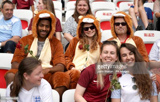 England fans in the stands show their support during the FIFA Women's World Cup Group D match at the Stade de Nice