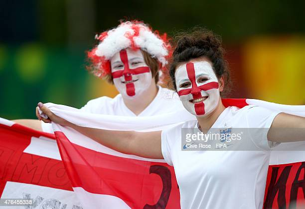 England fans look on prior to the FIFA Women's World Cup 2015 Group F match between France and England at the Moncton Stadium on June 9 2015 in...