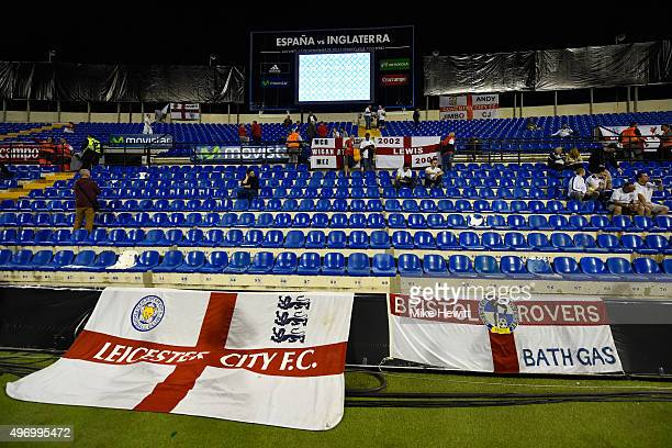 England fans look on prior to the international friendly match between Spain and England at Jose Rico Perez Stadium on November 13 2015 in Alicante...