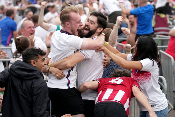 GBR: Football Fans Across England Turn Out For The Final Of The 2020 UEFA European Championships
