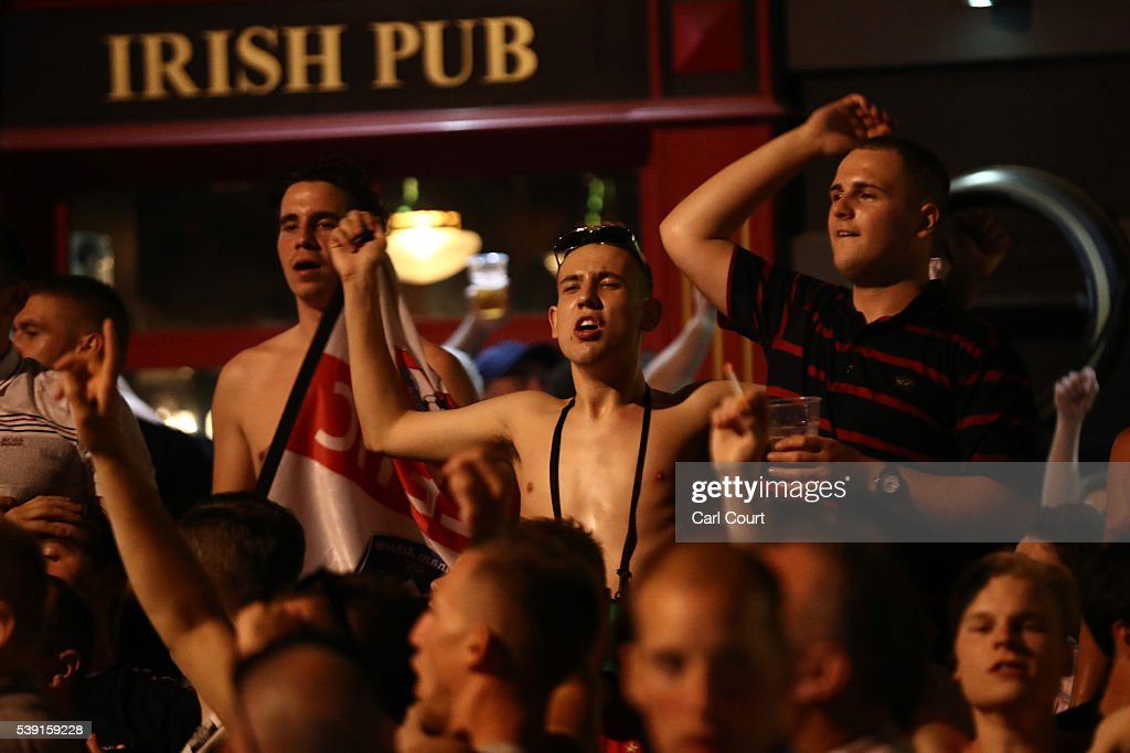 England Fans Arrive In Marseille For The Start Of UEFA Euro 2016 : News Photo