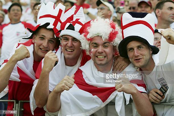 England fans wait for the kickoff during the FIFA World Cup Germany 2006 Group B match between England and Paraguay at the Stadium Frankfurt on June...