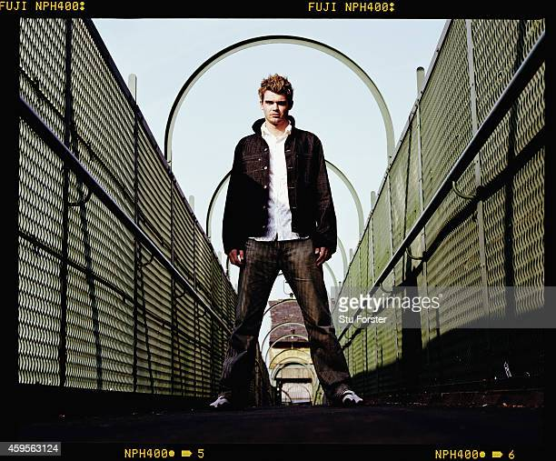 England fast bowler James Anderson pictured in April 2003 in Burnley England