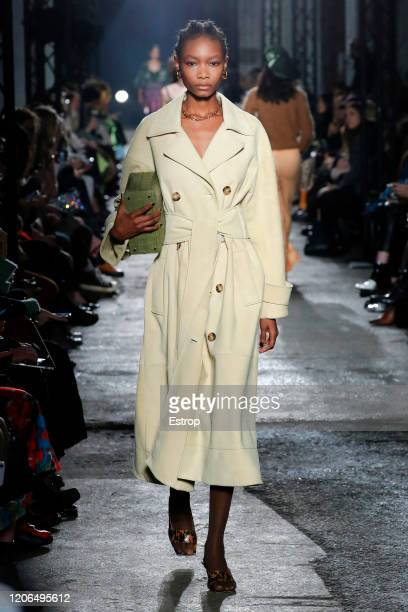 England – February 15: A model walks the runway at the Rejina Pyo show during London Fashion Week February 2020 on February 15, 2020 in London,...