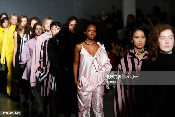 Atmosphere at the Marques'Almeida show during London Fashion Week February 2020 on February 15 2020 in London England