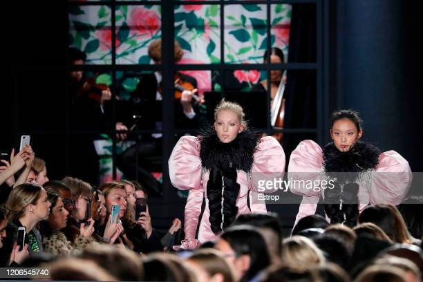 England – February 15: Atmosphere at the Richard Quinn show during London Fashion Week February 2020 on February 15, 2020 in London, England.