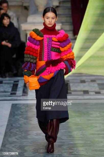 England – February 16: A model walks the runway at the Roksanda show during London Fashion Week February 2020 on February 14, 2020 in London, England.