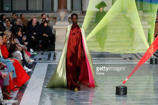 A model walks the runway at the Roksanda show during London Fashion Week February 2020 on February 14 2020 in London England