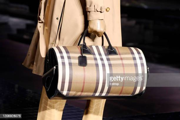 England – February 17: Bag detail at the Burberry show during London Fashion Week February 2020 on February 17, 2020 in London, England.