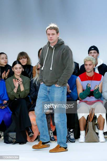 Fashion designer Jonathan Anderson at the JW Anderson show during London Fashion Week February 2020 on February 17 2020 in London England