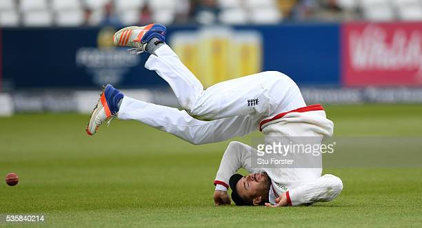 England fielder James Vince drops a catch off Sri Lanka batsman Rangana Herath during day four of the 2nd Investec Test match between England and Sri...