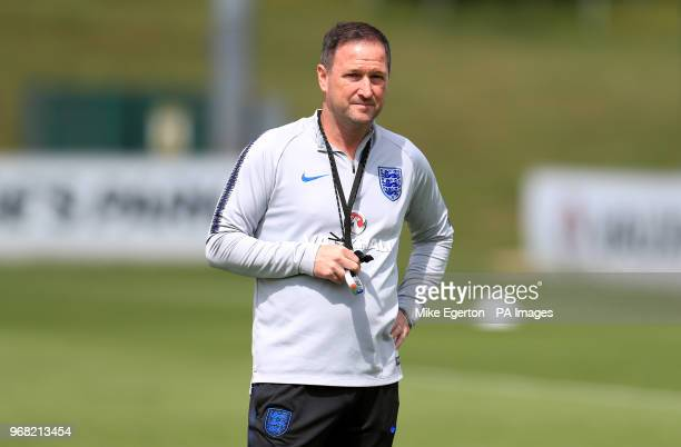 England first team coach Steve Holland during the training session at St George's Park Burton