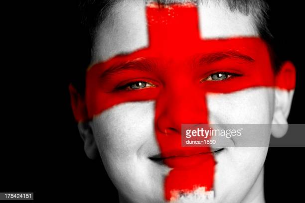 england football fan - st george flag stock photos and pictures