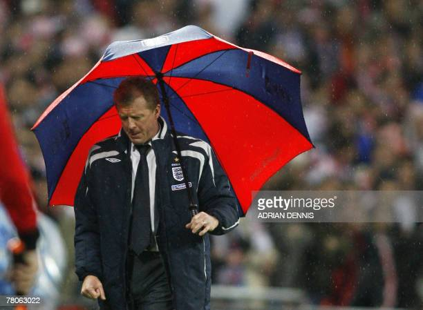England football manager Steve McClaren watches his team lose 32 to Croatia in a Group E Euro 2008 Qualifying game at Wembley in north London 21...