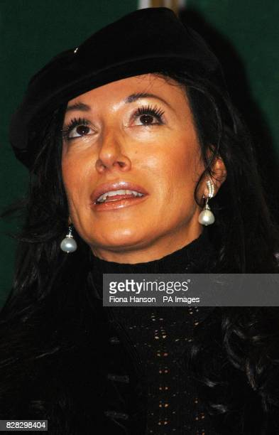 England football manager Sven Goran Eriksson's partner Nancy Dell'Olio in south east London Wednesday January 18 during the launch of The Football...