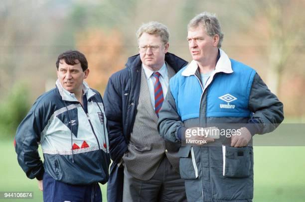England Football Team 17th February 1992 Photocall Graham Taylor England Manager Graham Kelly Chief Executive of the Football Association Lawrie...
