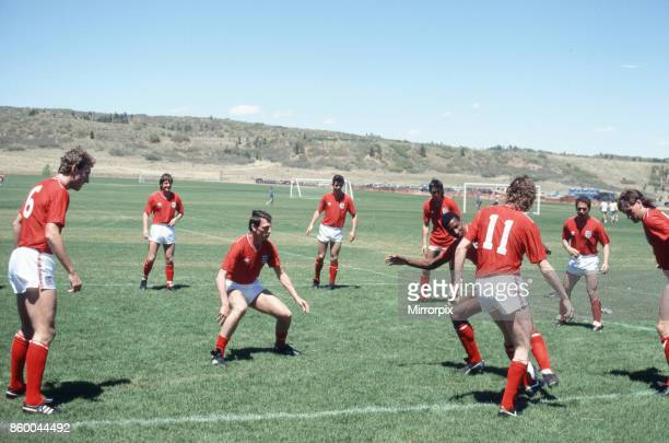 England football team attend a training session in Colorado Springs USA in preparation for the 1986 World Cup tournament in Mexico May 1986