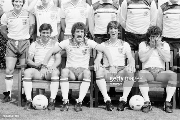 England Football Team Squad for 1982 World Cup Finals Press Day Tuesday 8th June 1982 Our Picture Shows Steve Coppell Kenny Sansom Terry McDermott...