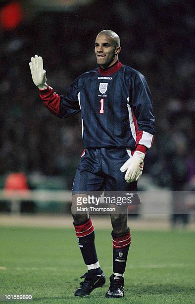 England footballer David James during an international friendly against Mexico at Wembley 29th March 1997 England won 20
