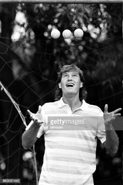 England footballer Glenn Hoddle juggling tennis balls as the team relaxes at their base in Monterrey Mexico ahead of the 1986 World Cup tournament...