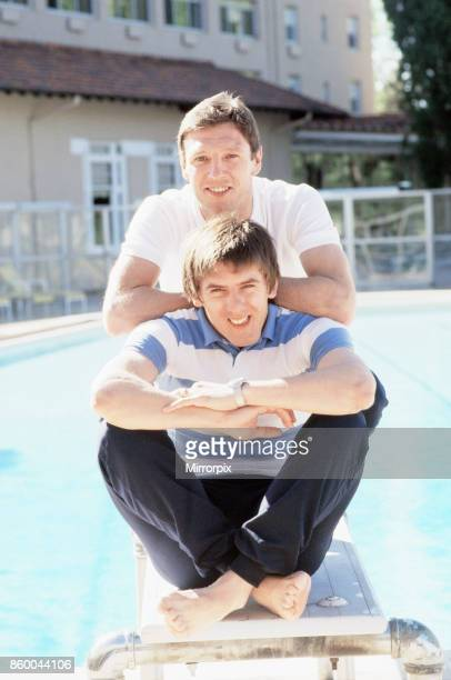 England footballer Peter Beardsley relaxes by the pool at the Broadmoor Hotel in Colorado Springs USA The England team are staying there as they try...