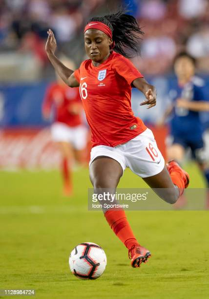 England forward Chioma Ubogagu shoots the ball during the She Believes Cup match between the Japan and England on March 5 2019 at Raymond James...