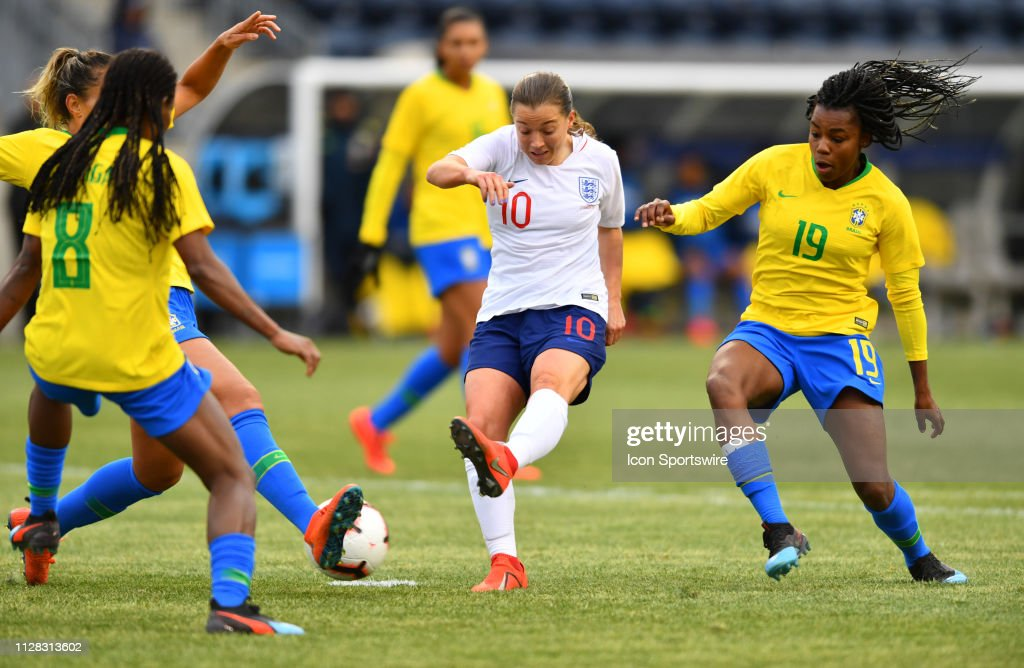 SOCCER: FEB 27 SheBelieves Cup - England v Brazil : News Photo