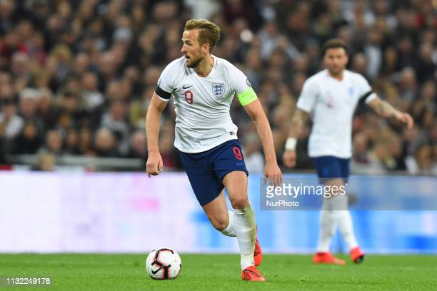 England forward Harry Kane during the UEFA European Championship Group A Qualifying match between England and Czech Republic at Wembley Stadium...