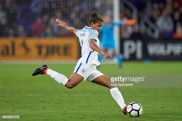 England forward Nikita Parris kicks the ball during the SheBelieves Cup match between USA and England on March 07 at Orlando City Stadium in Orlando...