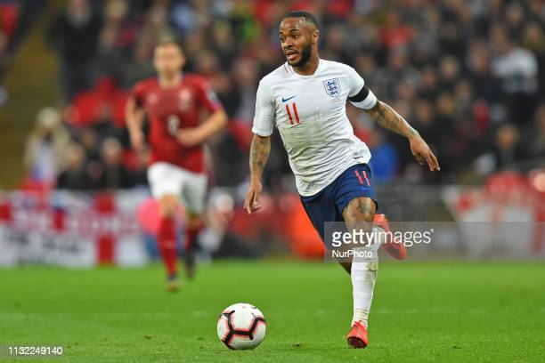 England forward Raheem Sterling in action during the UEFA European Championship Group A Qualifying match between England and Czech Republic at...