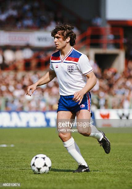 England fullback Kenny Sansom in action during a Home International Championship match between Wales and England at the Racecourse Ground on May 17...