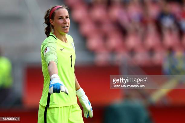 England goal keeper Karen Bardsley during the UEFA Women's Euro 2017 Group D match between England and Scotland at Stadion Galgenwaard on July 19...