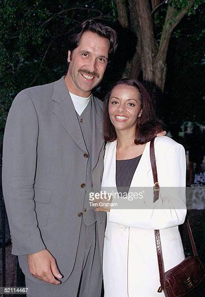 England Goalkeeper David Seaman And Debbie Rogers Attending David Frost's Party In Carlyle Square London