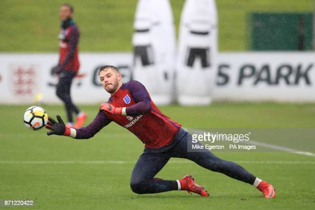 England goalkeeper Jack Butland during the training session at St George's Park Burton