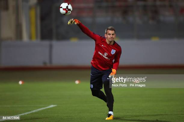 England goalkeeper Tom Heaton before the 2018 FIFA World Cup Qualifying Group F match at the National Stadium Ta' Qali