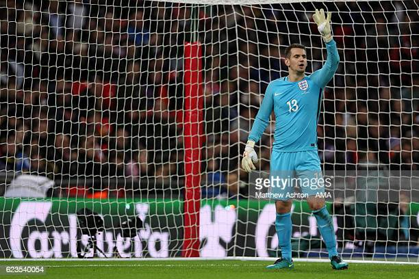 England goalkeeper Tom Heaton during the International Friendly between England and Spain at Wembley Stadium on November 15 2016 in London England