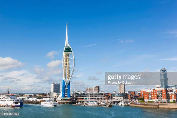 England Hampshire Portsmouth Spinnaker Tower and City Skyline