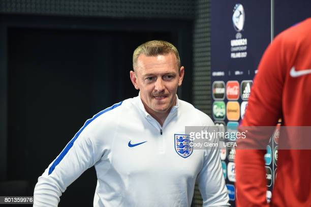 England head coach Aidy Boothroyd during a press conference ahead of their UEFA European Under21 Championship semifinal match against Germany on June...