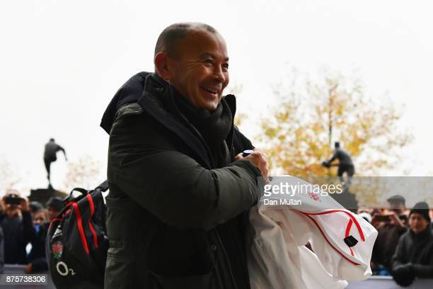 England head coach Eddie Jones arrives prior to the Old Mutual Wealth Series match between England and Australia at Twickenham Stadium on November 18...