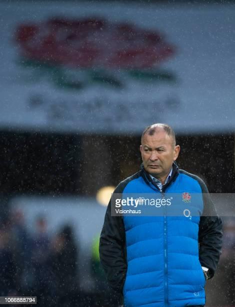 England Head Coach Eddie Jones before the Quilter International match between England and New Zealand at Twickenham Stadium on November 10 2018 in...