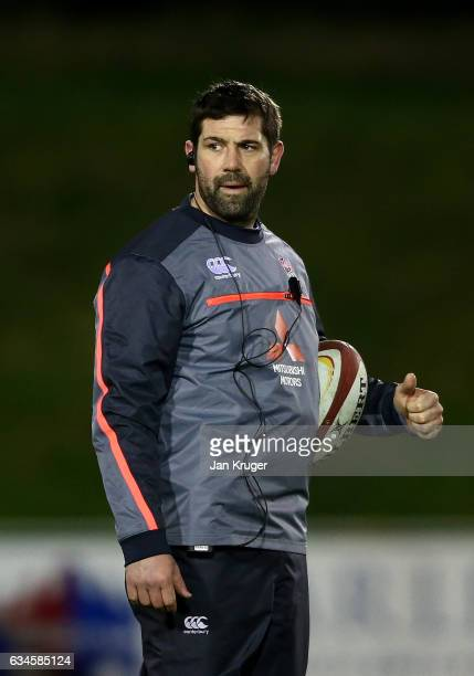 England head coach Ian Vass looks on during the U20 Six Nations match between Wales U20 and England U20 at Eirias Stadium on February 10 2017 in...