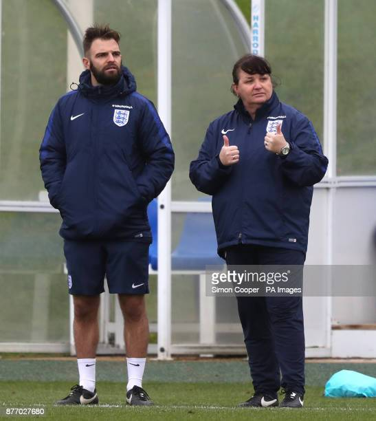 England Interim manager Mo Marley during the training session at St George's Park Burton